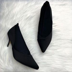 ALL BLACK Sustainable Pointed Toe Heeleed Bootie